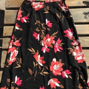 Dress Barn, Midi-Skirt, black floral,